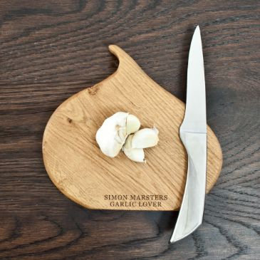 Luxury Handmade Oak Garlic Chopping Board